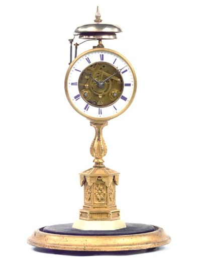 A French gilt-brass quarter-st