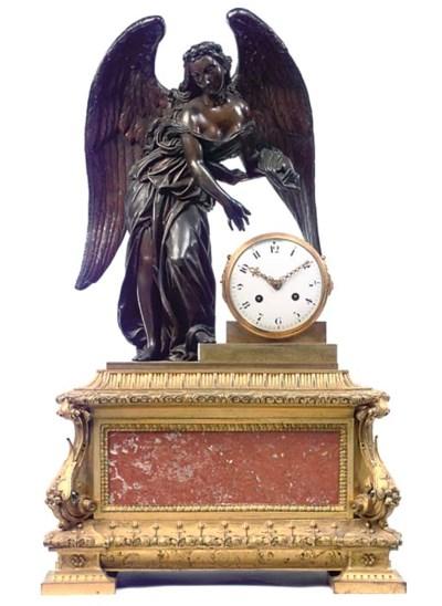 A French bronze, ormolu and va