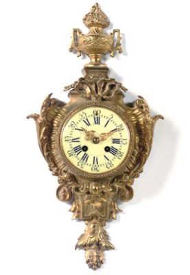 A French gilt-brass striking c