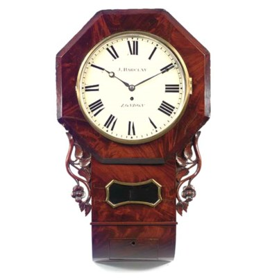 A Victorian mahogany drop-dial
