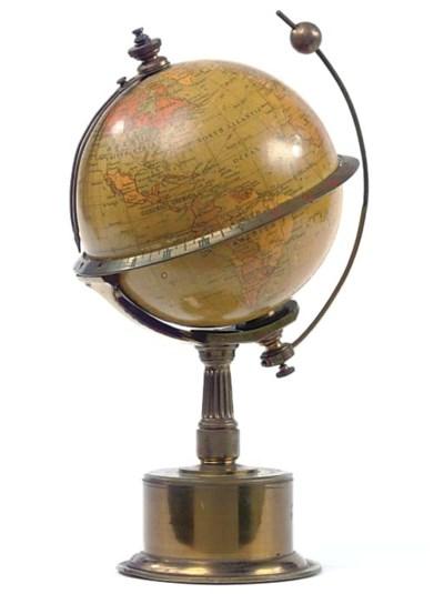 An English brass rotating glob