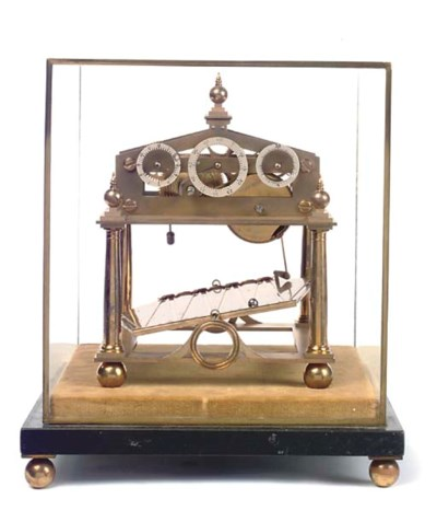 An English small brass and bla