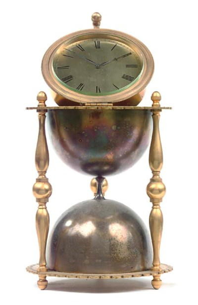 A French gilt, silvered and en