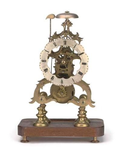 A Victorian brass skeleton tim