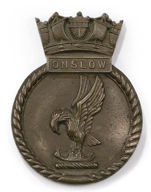 A SHIP'S BOAT BADGE FROM H.M.D
