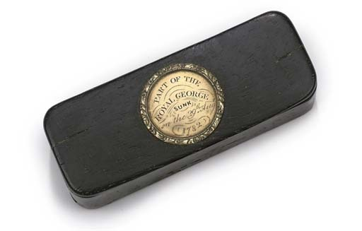 A SNUFFBOX MADE FROM RECOVERED