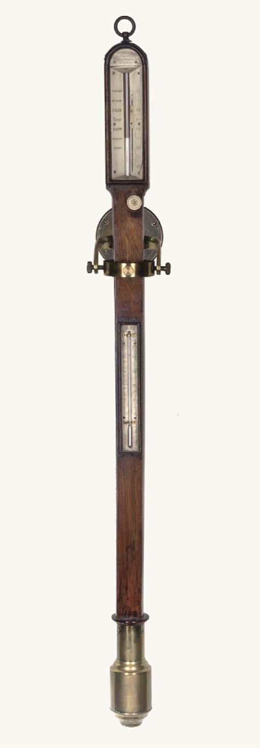 A 19TH-CENTURY MAHOGANY MARINE