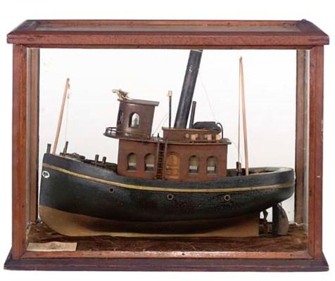 A 19TH-CENTURY MODEL OF A TUG