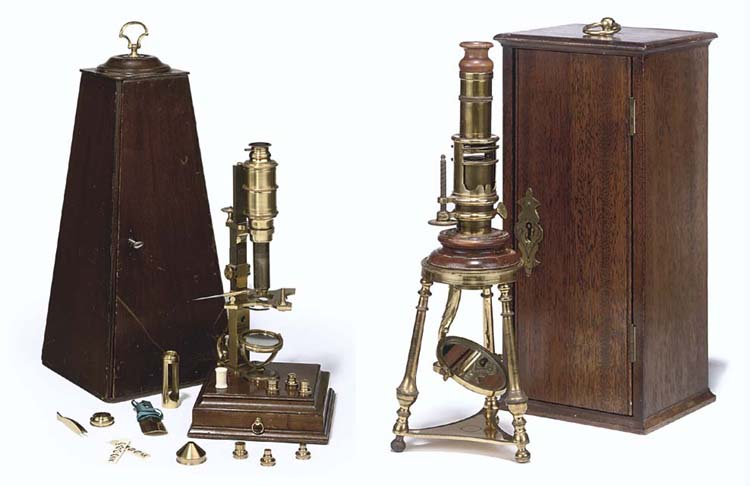 Two Replica Rara microscopes,