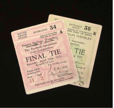 TWO F.A.CUP FINAL TICKET STUBS