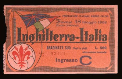 AN ITALY V. ENGLAND INTERNATIO