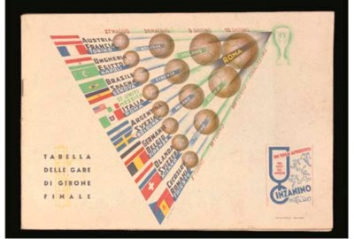 A RARE 1934 OFFICIAL WORLD CUP