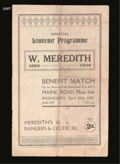 MEREDITH'S XI V. RANGERS & CEL