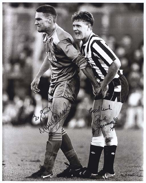VINNIE JONES AND PAUL GASCOIGN