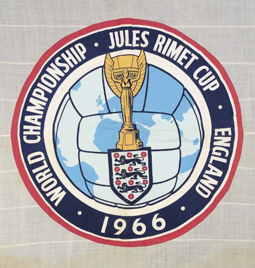 A LARGE WHITE 1966 WORLD CUP W