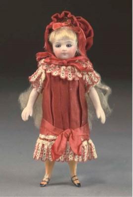 A fine all-bisque child dolls'