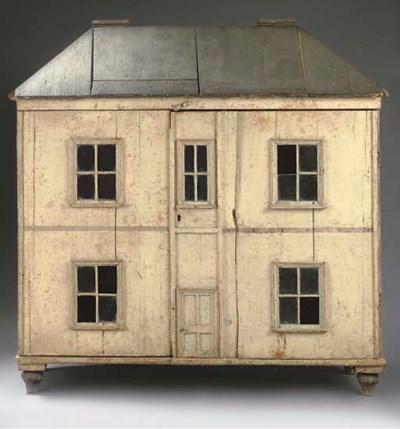 a large carpenter built wooden dolls 39 house christie 39 s. Black Bedroom Furniture Sets. Home Design Ideas
