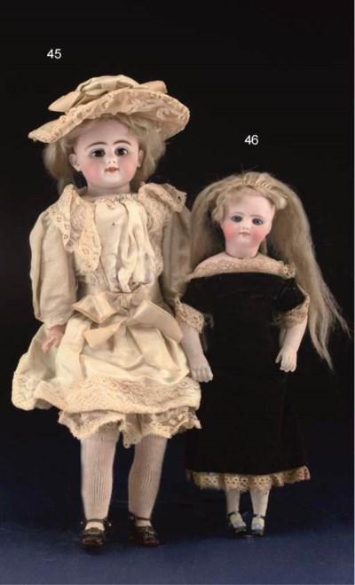 A bisque child doll