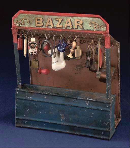 A Rare French tinplate Bazaar