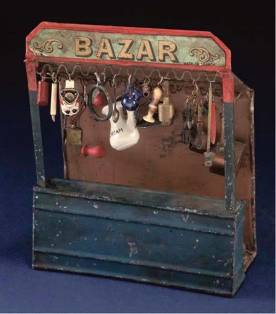 A Rare French tinplate Bazaar