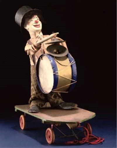 A German pull-along clown plat