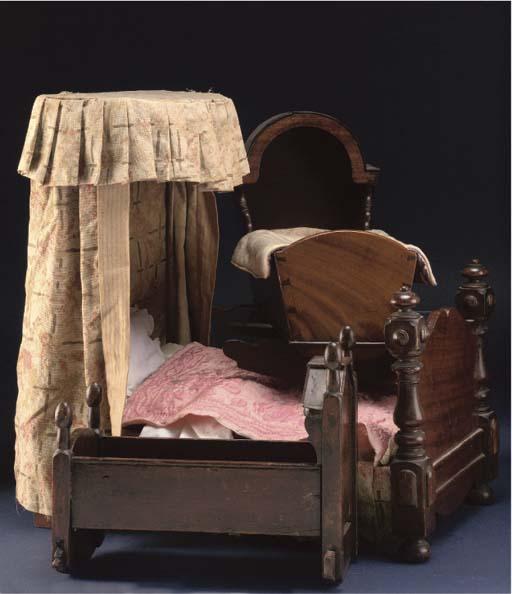 A Doll's half-tester mahogany