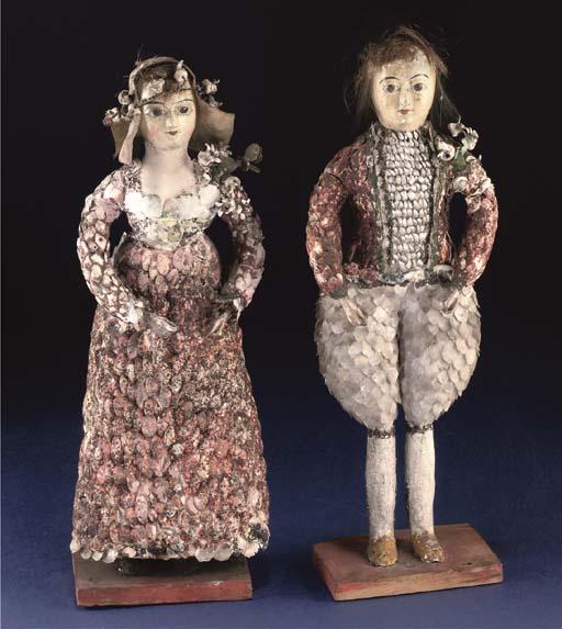 A rare pair of French carton-h