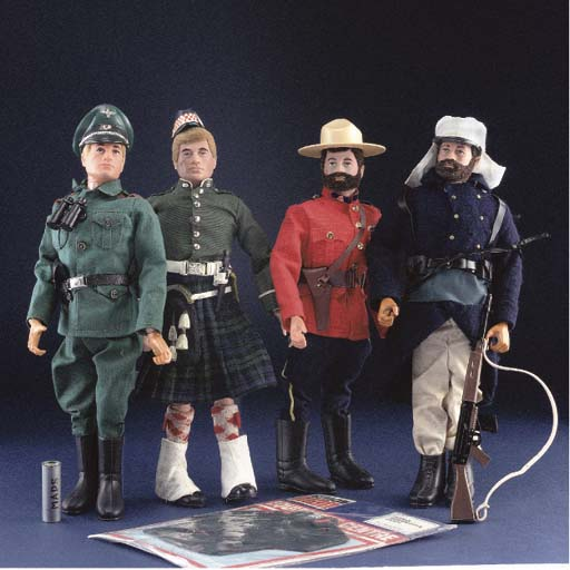 Action Man with blonde flocked