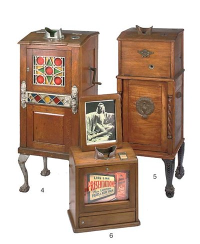 A coin-operated consule stereo