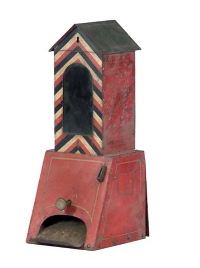 A rare Sentry Box cigar dispen
