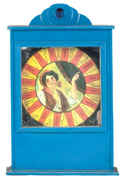 A Fortune Teller wall machine