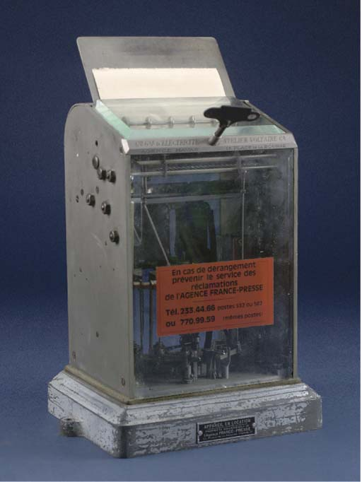 An early French teleprinter