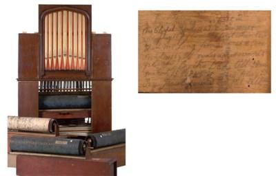 A 39-key church barrel organ