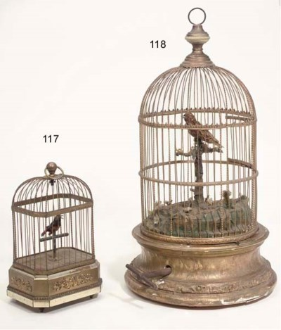 A small singing bird in cage