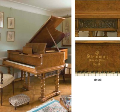 A unique German Steinway Duo-A