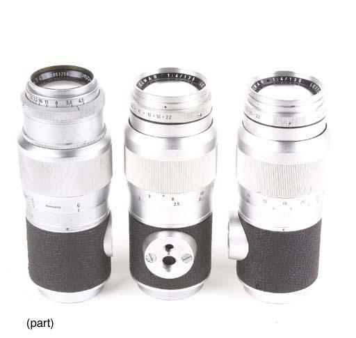 Screw-fit 13.5cm. lenses