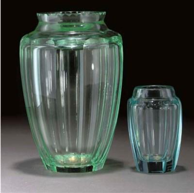 A DAUM GLASS VASE