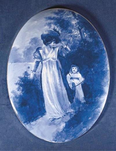 A ROYAL DOULTON BLUE CHILDREN'
