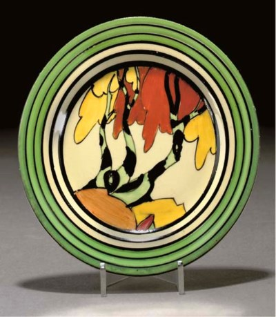 A CLARICE CLIFF HONOLULU PLATE