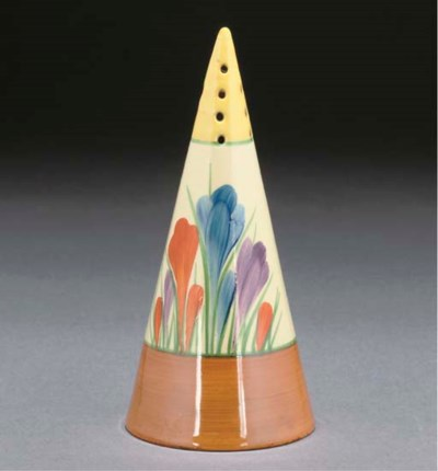 A CLARICE CLIFF CROCUS CONICAL