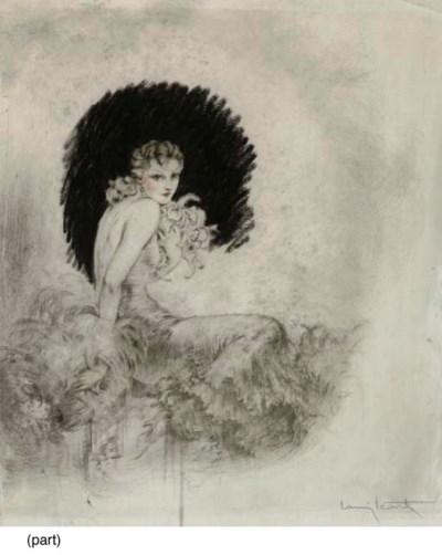 LOUIS ICART, 'ORCHIDS'