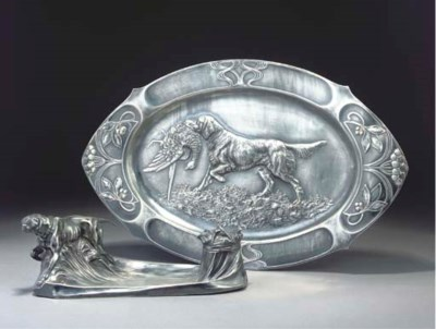 A WMF SILVERED METAL TRAY