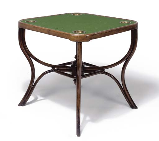 A THONET BENTWOOD GAMING TABLE