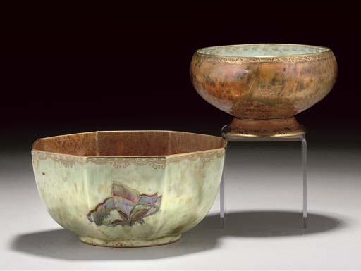 A WEDGWOOD MOTHER-OF-PEARL LUS