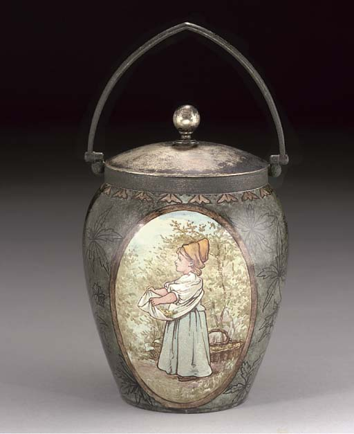 A DOULTON LAMBETH BISCUIT BARR