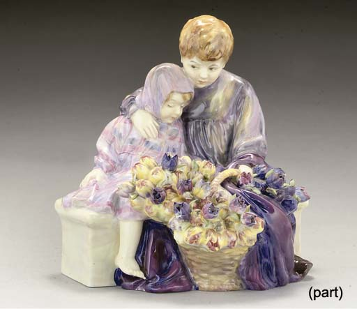 A ROYAL DOULTON THE FLOWER SEL
