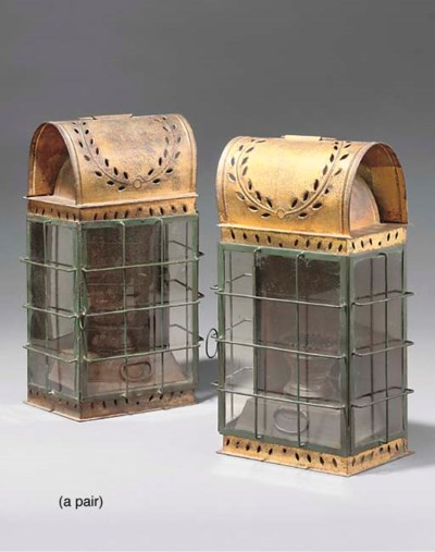 A PAIR OF FRENCH GILT COPPER W