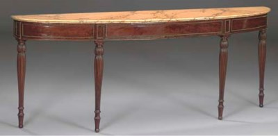 A REGENCY MAHOGANY AND SIMULAT