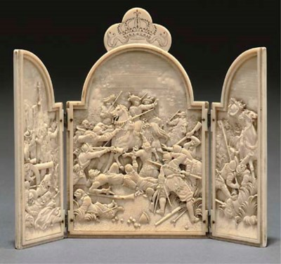 A DIEPPE IVORY TRIPTYCH