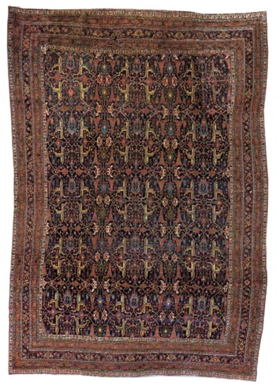 A antique Bijar carpet